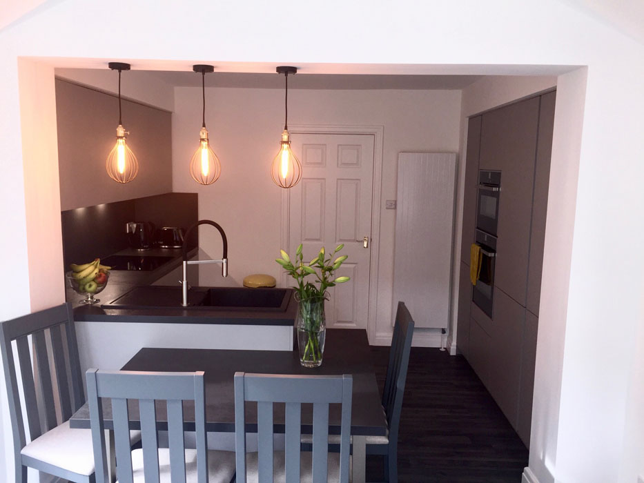 Compact Kitchen with Seating
