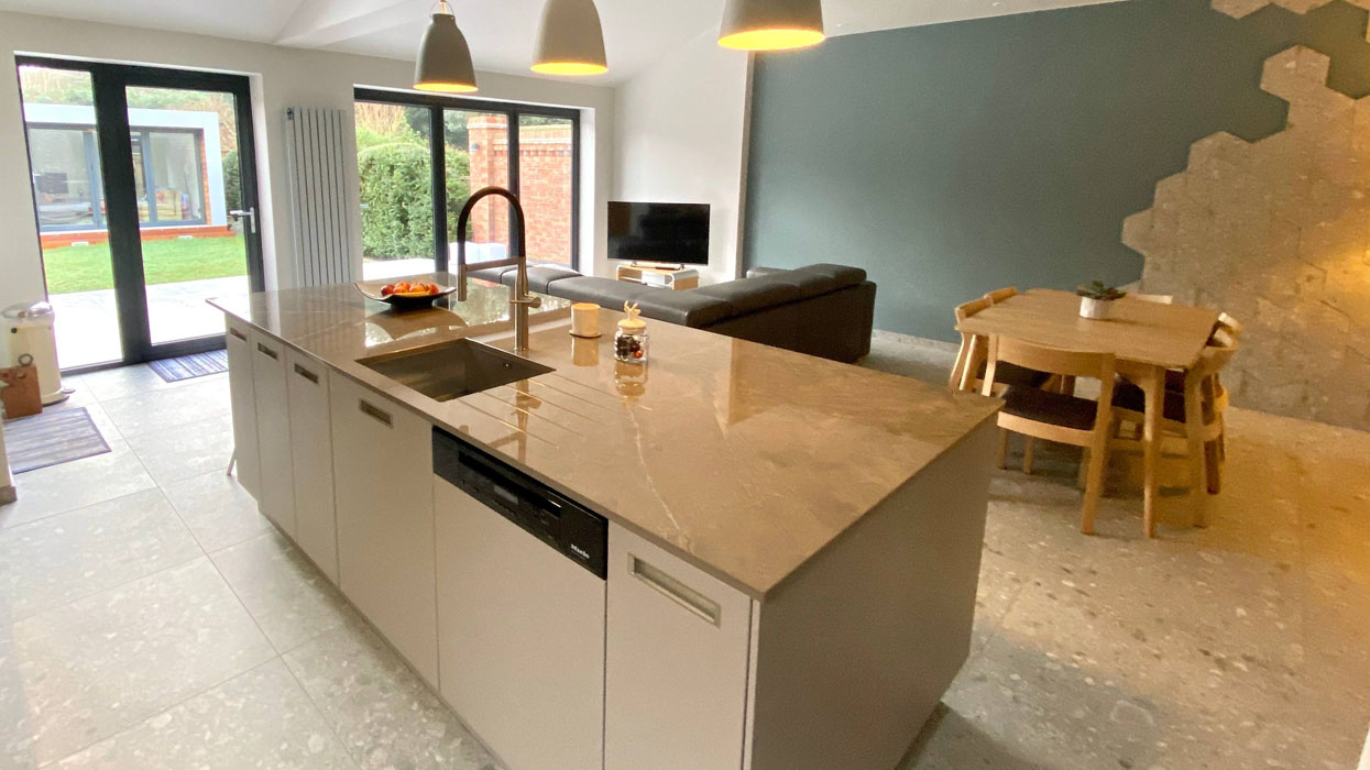Open Plan Kitchen with an Island