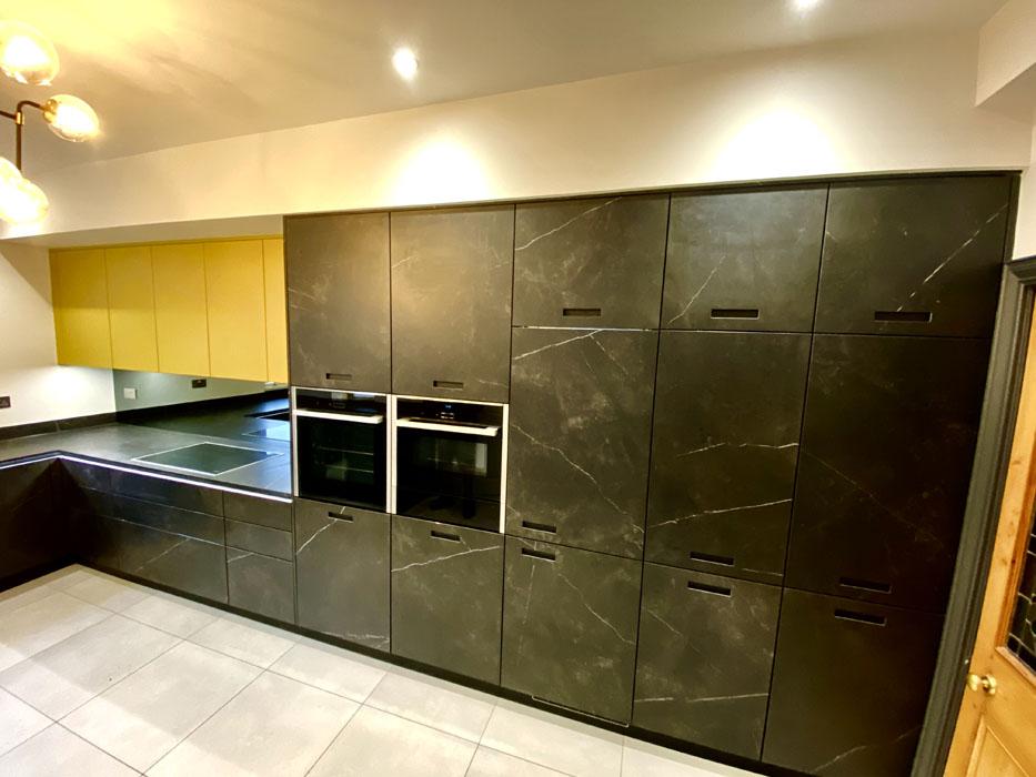 Contemporary Black Ceramic Kitchen