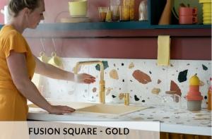Fusion Square Gold