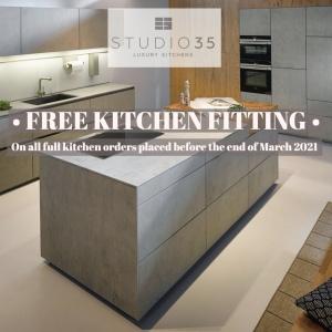 free kitchen fitting